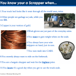 You Know You're a Scrapper When…