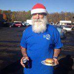 santa scrapping, scrapping santa, Rockaway Recycling Santa