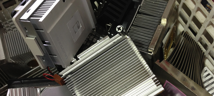 Photo of AL Heat Sinks