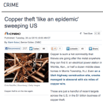 Copper Theft: Rockaway Recycling Featured on CNBC