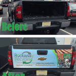 Before & After: New Tailgate Graphic & Winter Weather