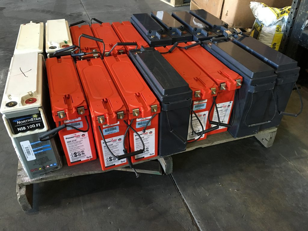 Photo of Cell Site Lead Batteries
