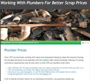 Plumbers Scrap Metal Prices