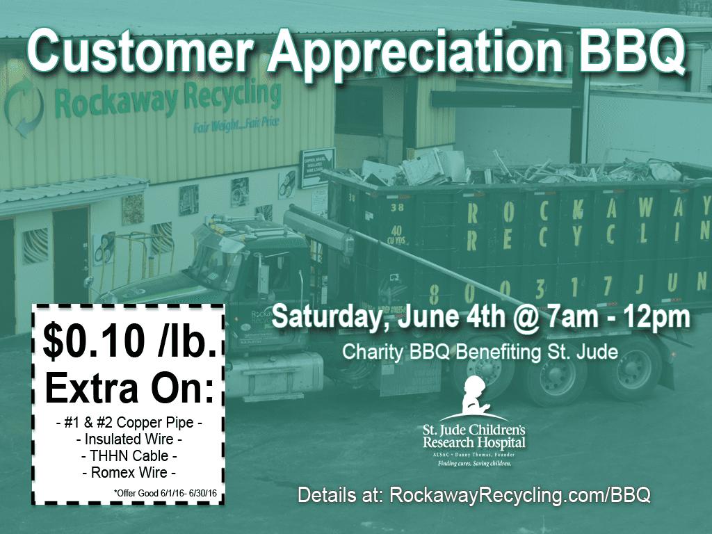 June 2016 Customer Appreciation BBQ - Rockaway Recycling