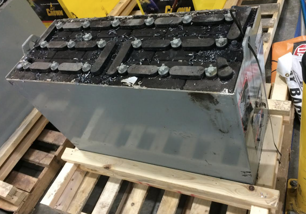 steel forklift battery