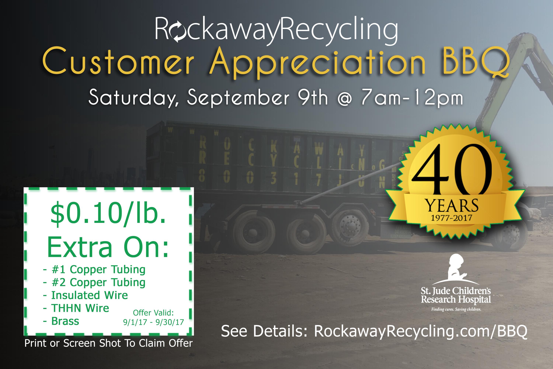 Customer Appreciation BBQ - Rockaway Recycling